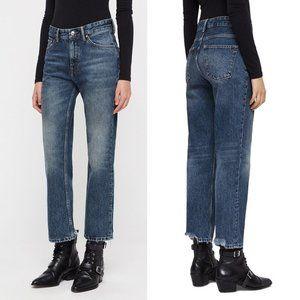 NWT All Saints AVA Straight jeans vintage wash